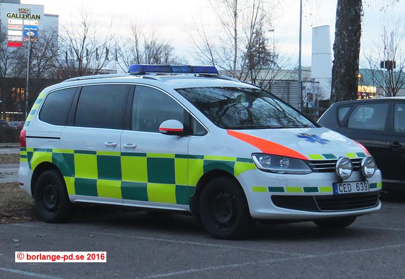 Befälsbil Ambulansen Dalarna